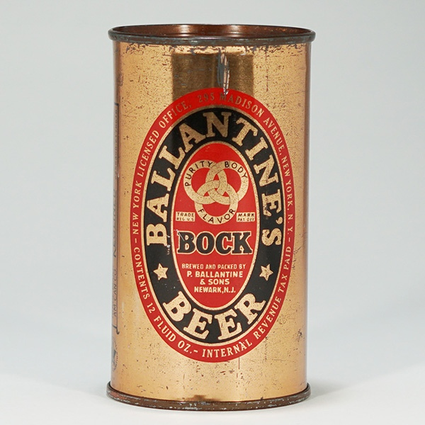 Ballantine's Bock Beer Can 34-17 Beer