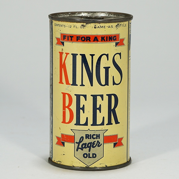 Kings Rich Old Lager Beer Can 451 Beer