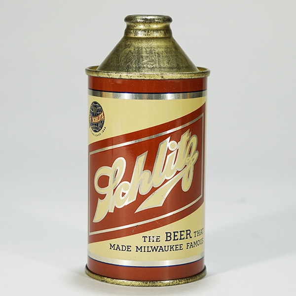 Schlitz Prototype Cone Top Beer