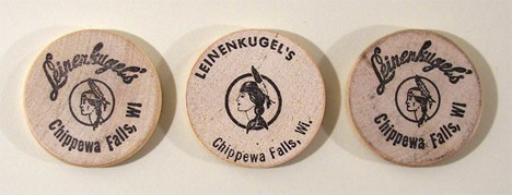 3 Leinenkugel's Wooden Nickels Beer