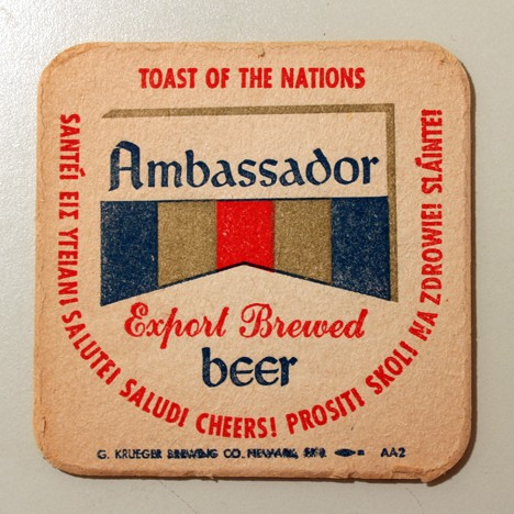 "Ambassador Export Brewed Beer - ""Toast Of The Nations"" Beer"