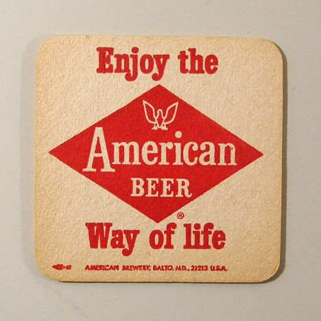 American - Inverted Red Reverse Beer