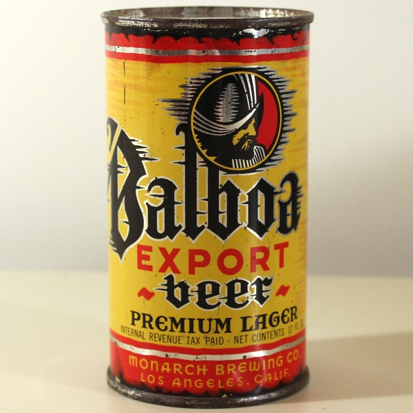 Balboa Export Premium Lager Beer (Monarch) 032-37 Beer