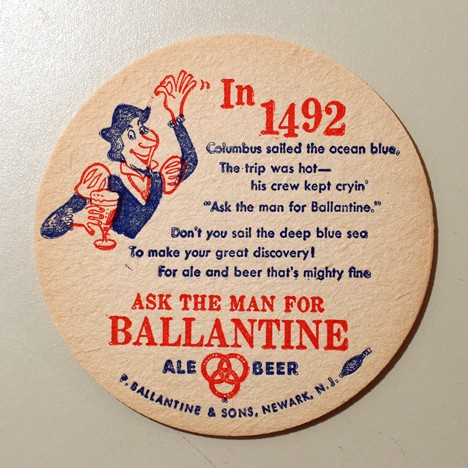 Ballantine Ale & Beer - In 1492 Beer