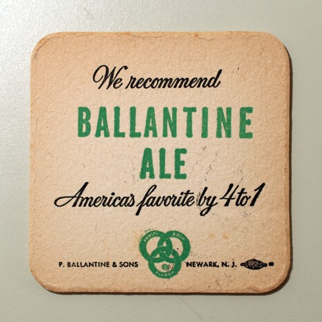 "Ballantine Ale - ""America's Favorite By 4 To 1"" Beer"