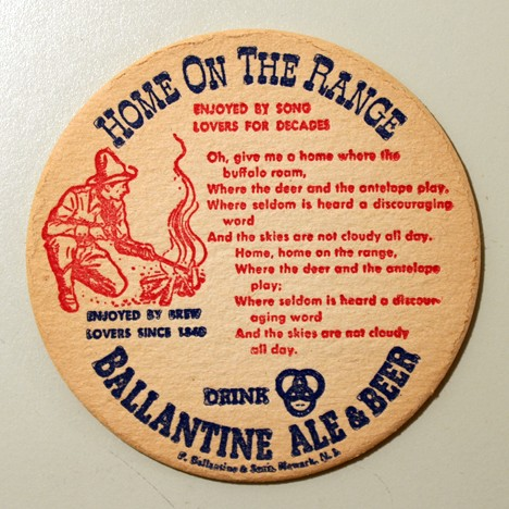 "Ballantine Ale & Beer - Songs - ""Home On The Range"" Beer"