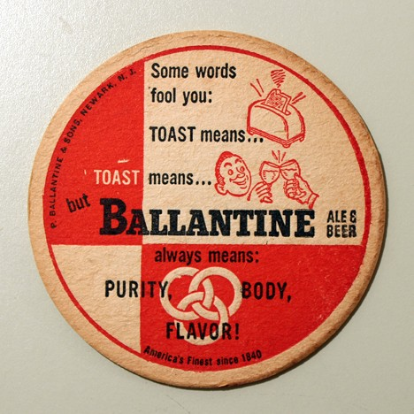 Ballantine Ale & Beer - Toast (No Union Label) Beer