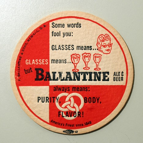 Ballantine Ale & Beer - Glasses (Union Label) Beer