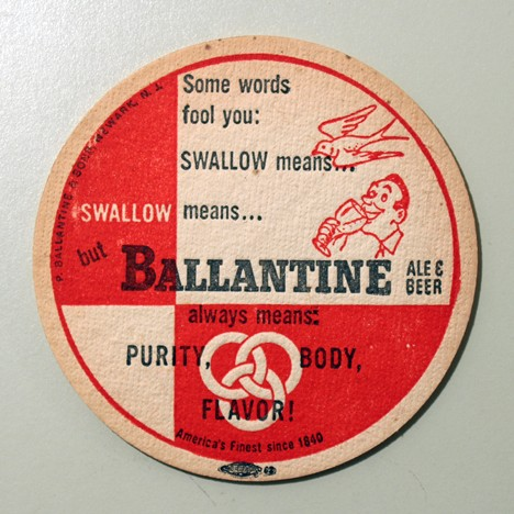 Ballantine Ale & Beer - Swallow (Union Label) Beer