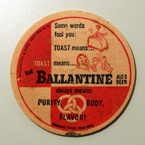 Ballantine Ale & Beer - Toast (Union Label) Beer