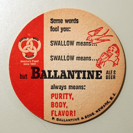 Ballantine Ale & Beer - Swallow (Early Version) Beer