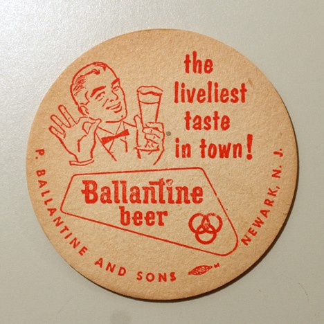 "Ballantine Beer - ""The Liveliest Taste In Town!"" Beer"