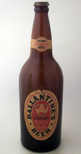 "Ballantine's Export Beer ""Bumper"" Quart Beer"