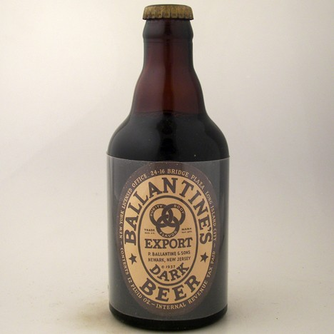 Ballantine's Export Dark Beer Steinie Beer