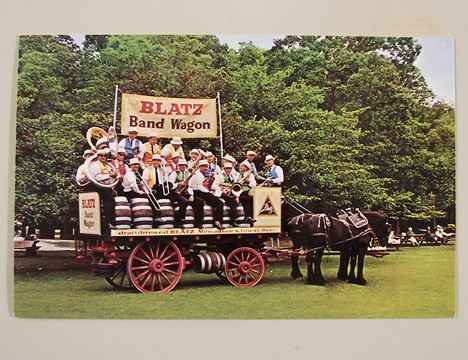 Blatz Band Wagon Post Card Beer