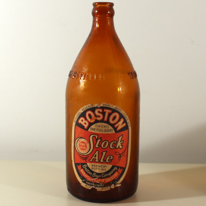 Boston Stock Ale Quart Wartime Beer