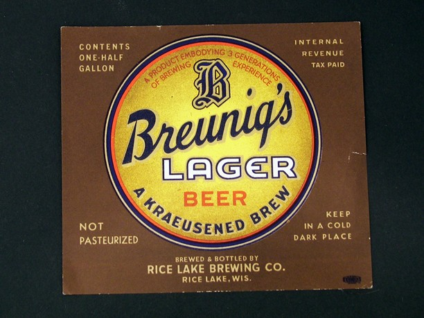 Breunig's Lager Beer Half Gallon Beer