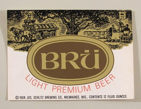 Bru Light Premium Beer (Test Label) Beer