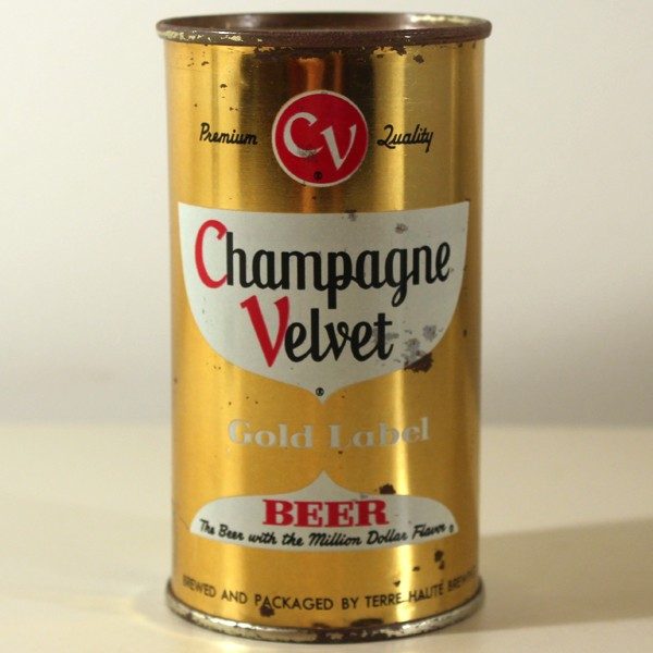 Champagne Velvet Gold Label Beer 049-06 at Breweriana.com