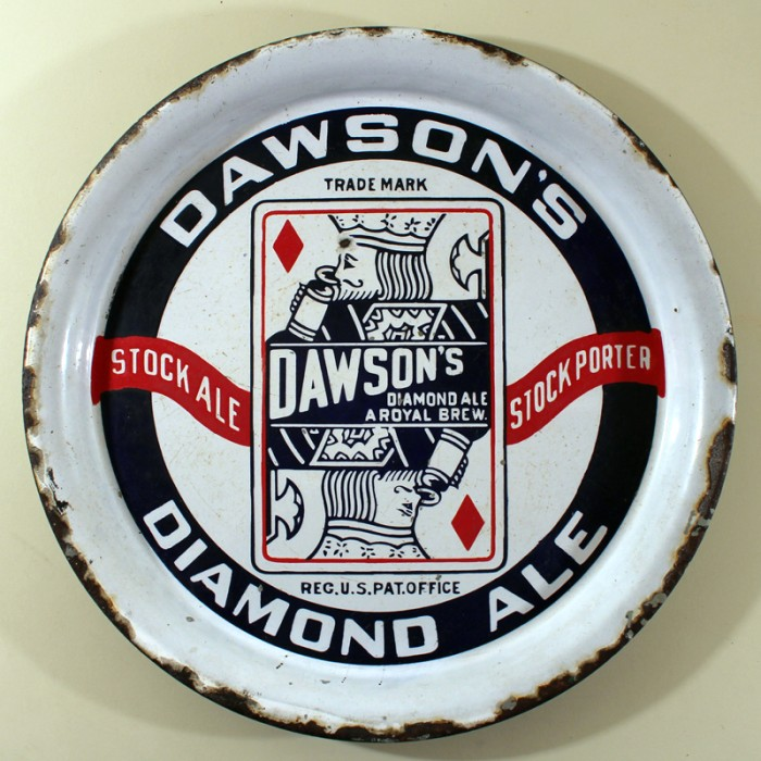 Dawson's Diamond Ale Porcelain Beer