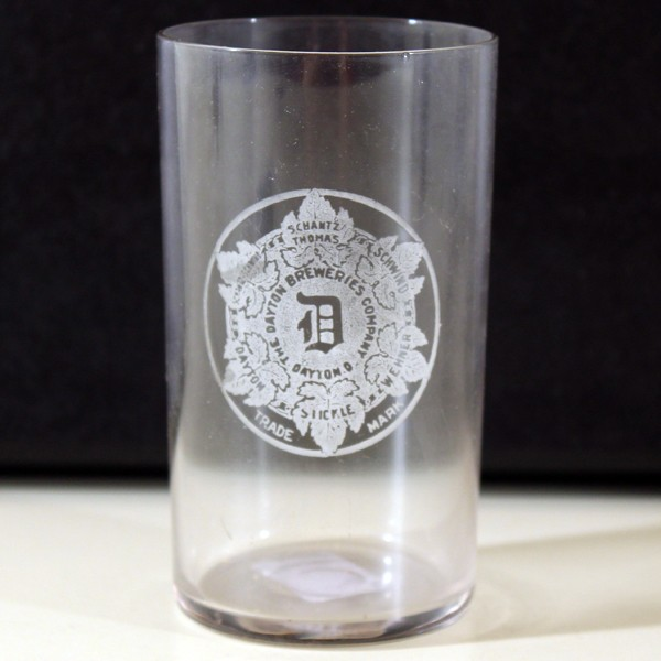 Dayton Breweries Company Etched Glass Beer