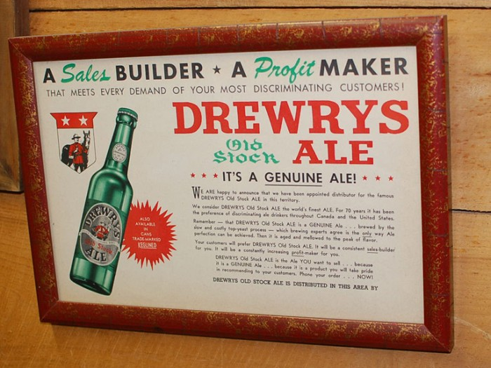 Drewrys Sales Promotion Beer