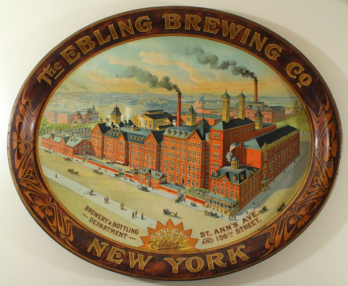 Ebling Brewing Co. Oval Factory Tray Beer