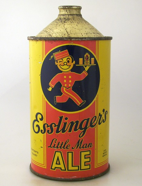Esslinger's Little Man Ale (Cone Top on Tray) 208-08 Beer