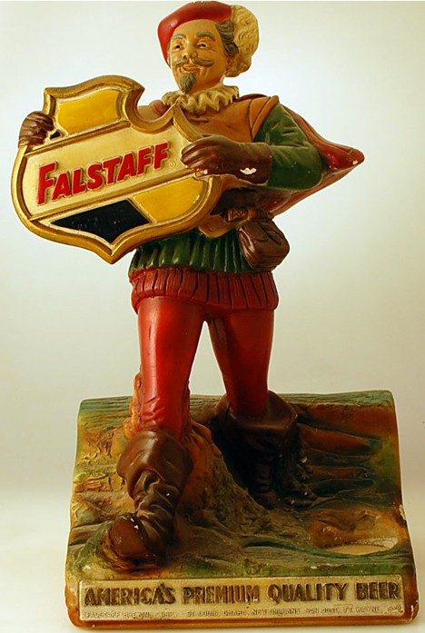 Falstaff Back Bar Statue Beer