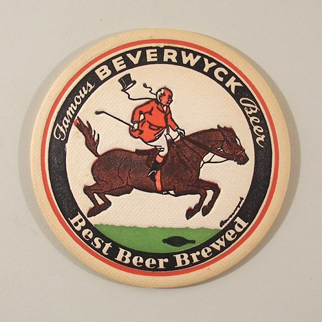 "Famous Beverwyck Beer Best Brewed Beer 4"" Steeplechase 2 Beer"
