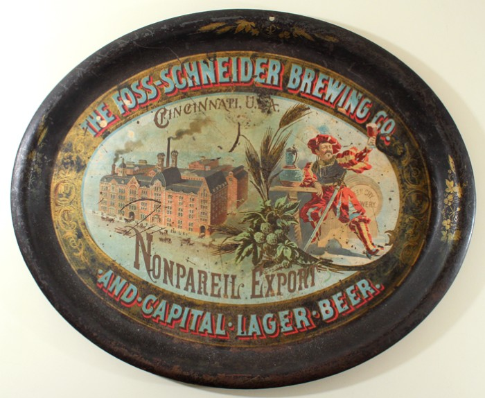 Foss-Schneider Brewing Co. Nonpareil Export Factory Oval Tray Beer