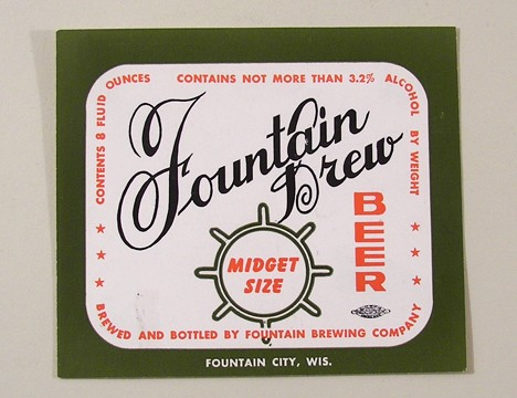 Fountain Brew MIdget Size Beer Beer