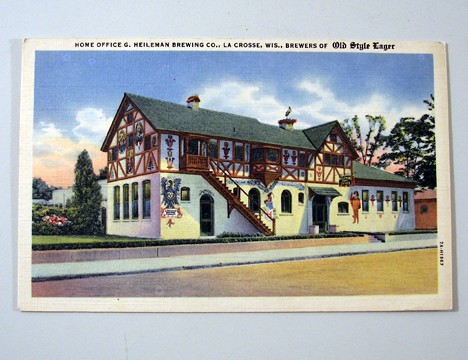 G. Heileman Home Office 1955 Post Card Beer
