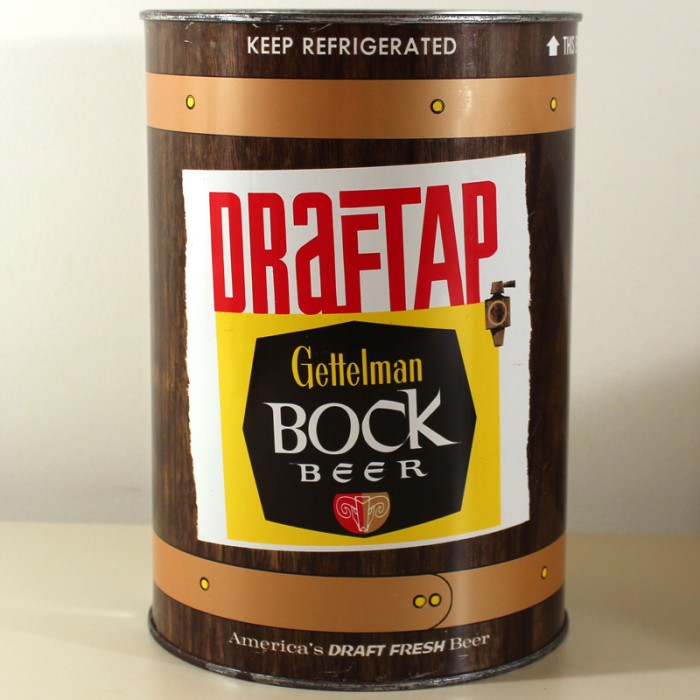 Gettelman Bock Beer DrafTap Gallon 244-11 Beer