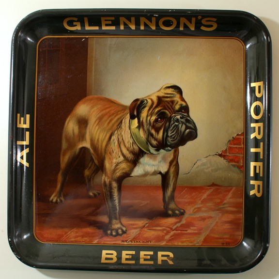 "Glennon's ""St. Vincent"" Square Bulldog Tray Beer"