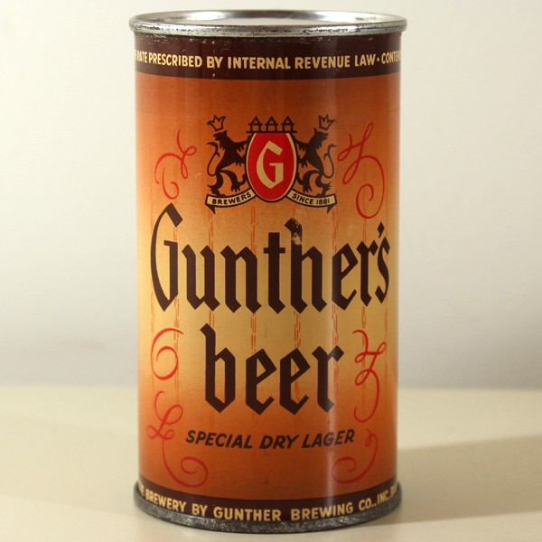 Gunther's Special Dry Lager Beer 078-21 Beer