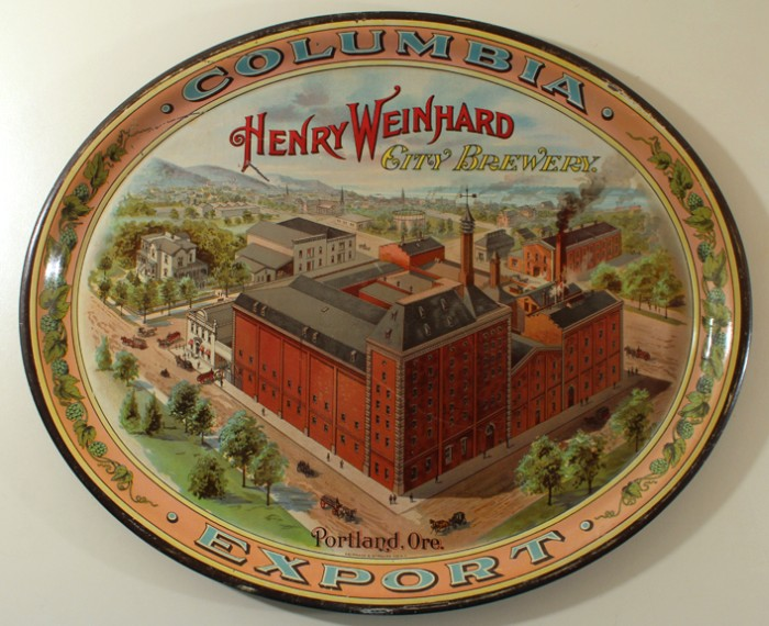 Henry Weinhard City Brewery Factory Oval Tray Beer