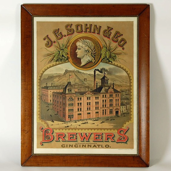 J.G. Sohn & Co Lithograph Beer