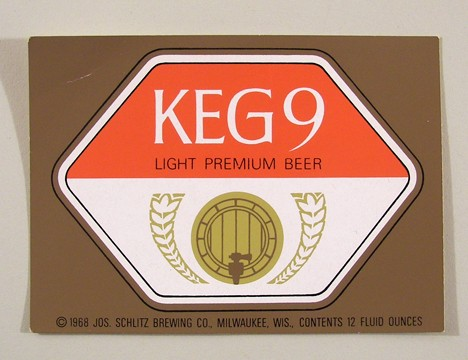 Keg 9 Light Premium Beer (Test Label) Beer