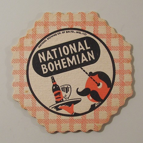 National Bohemian - Red/White Tablecloth Beer