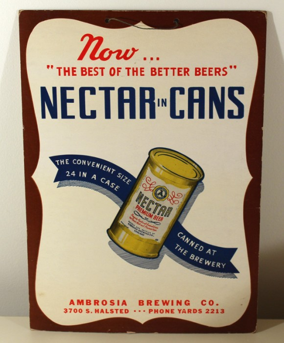 """Nectar In Cans"" Hanging Cardboard Beer"