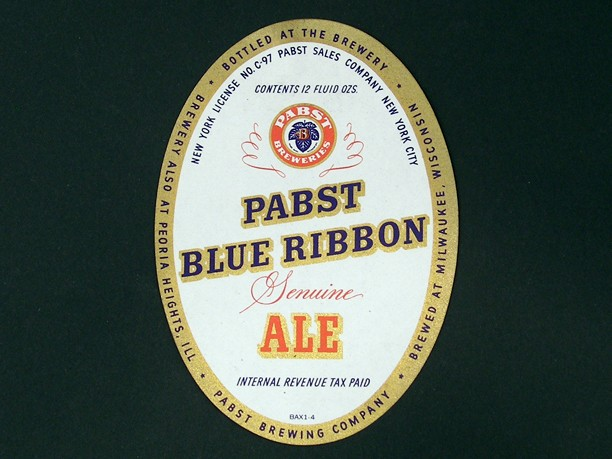 Pabst Blue Ribbon Genuine Ale Beer