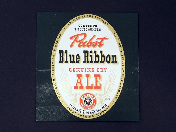 Pabst Blue Ribbon Genuine Dry Ale 7 Ounce Beer