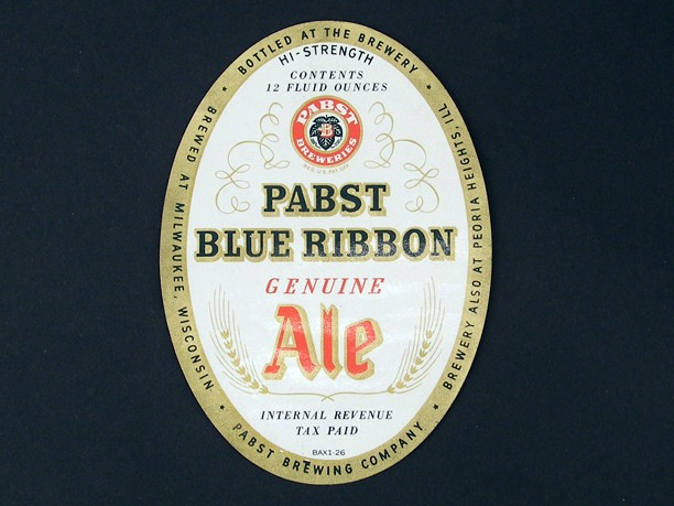 Pabst Blue Ribbon Genuine Dry Ale Hi Strength Beer