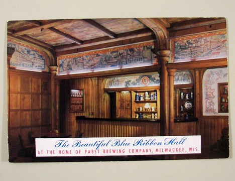 Pabst Blue Ribbon Hall Post Card Beer
