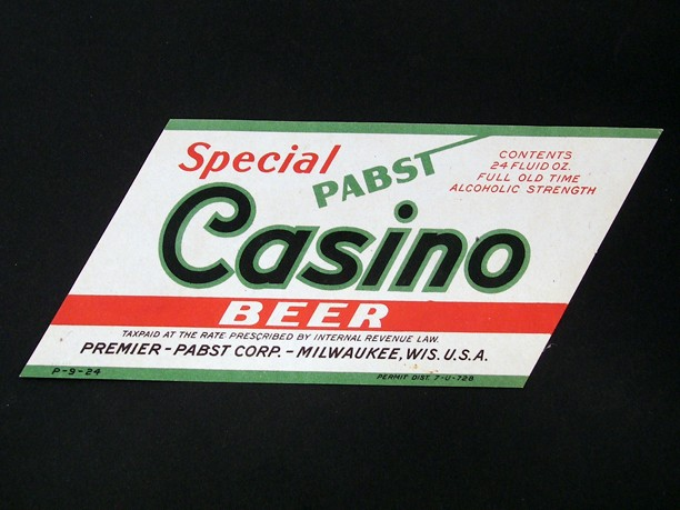 Pabst Casino Beer 24 Ounce Beer