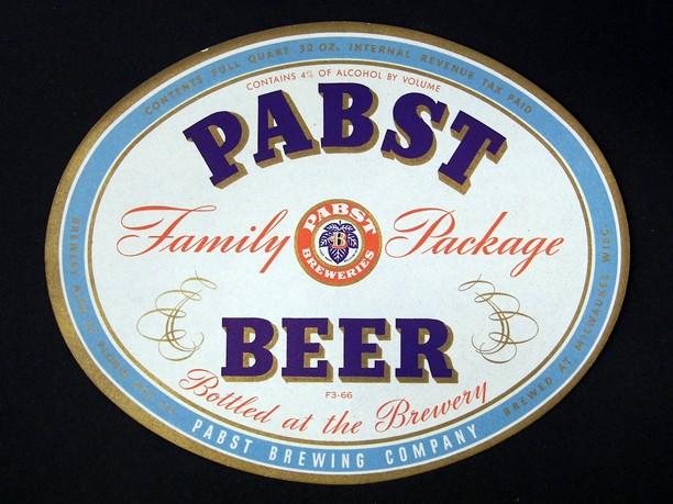 Pabst Family Package Beer One Quart Beer