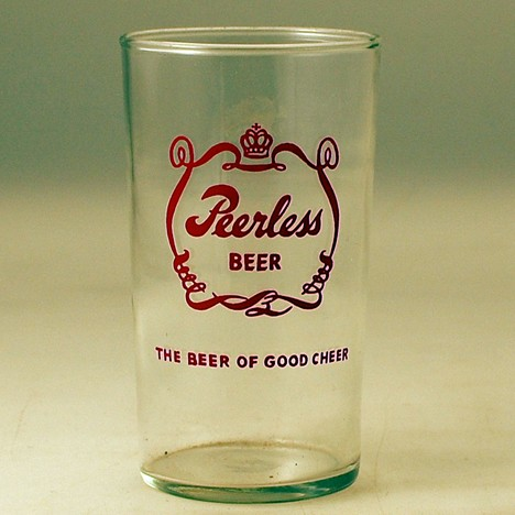 Peerless 'The Beer of Good Cheer' Glass Beer