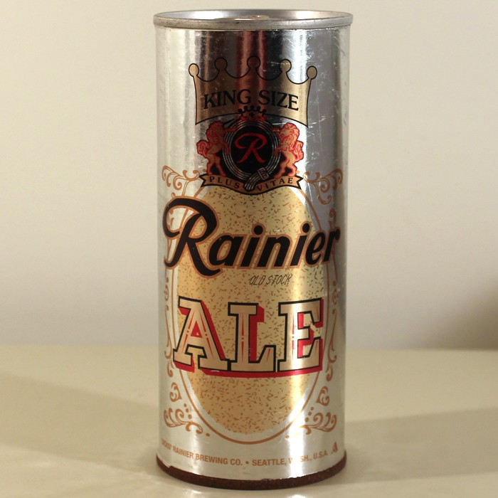 Rainier Old Stock Ale Test Can #5 (Silver) NL Beer