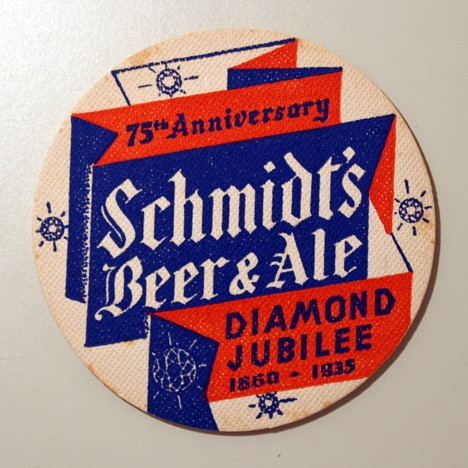 "Schmidt's Beer & Ale - ""Diamond Jubilee"" Beer"